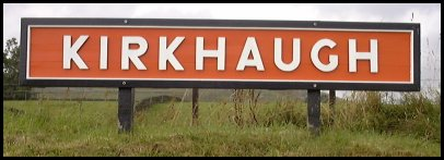 Kirkhaugh Station Sign September 1999